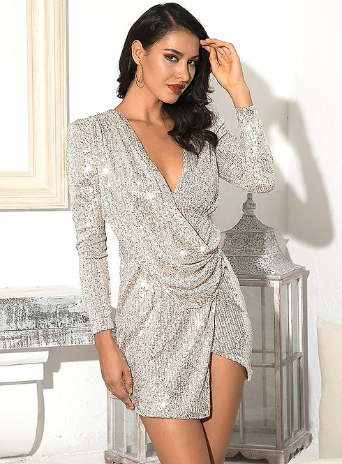CRYPTOR GLOBAL ™️ ©️ The Samira Sequin Exquisite Evening Dress