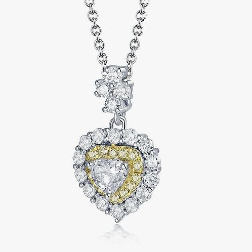 CRYPTOR GLOBAL ™️©️ 18K White Gold 0.30 ct. Diamond Heart