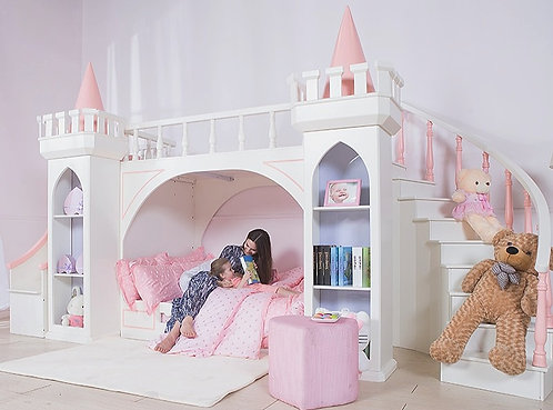 CRYPTOR GLOBAL ™️©️ Magical Princess Castle Double Bed With Slide Storage