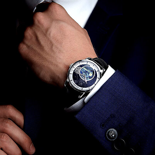 CRYPTOR GLOBAL ™️©️ AGELOCER luxurious New Moon Phase Automatic Watch