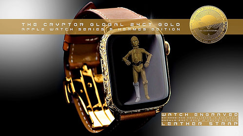 CRYPTOR GLOBAL™️©️ The 24K Gold Series 6 Apple Luxury HERMES Edition