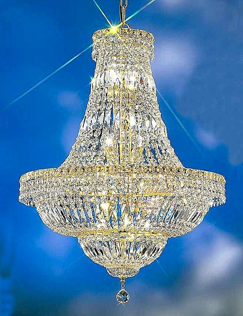 CRYPTOR GLOBAL ™️©️Majestic Gold  French Empire Crystal Chandelier