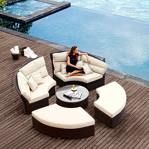 CRYPTOR GLOBAL  ™️©️ All Weather Wicker Rattan Round Outdoor Patio Furniture