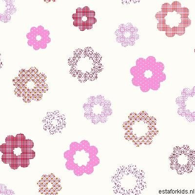 Hearts & Heroes Patchwork Flowers Pink