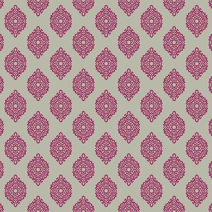 Garden Gate Pink & Silver