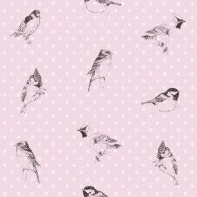 Belle Rose Birds Purple