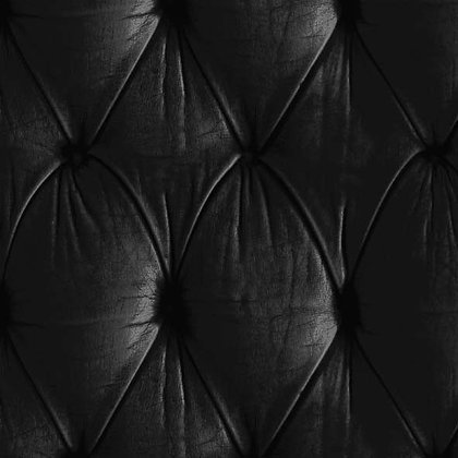 Black Chesterfield Button Back