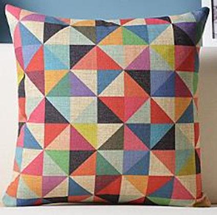 Almofada Geométrica Quadrados Coloridos