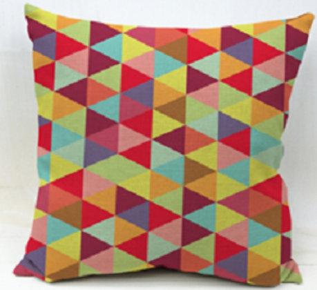 Almofada Geométrica Triângulos Coloridos