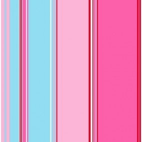 Belle Rose Stripes Blue & Pink