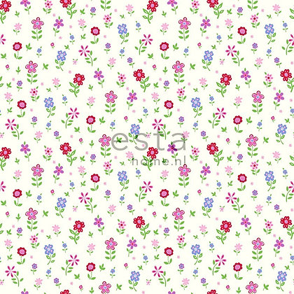 Giggle Flowers Blue, Green, Red, Pink & White
