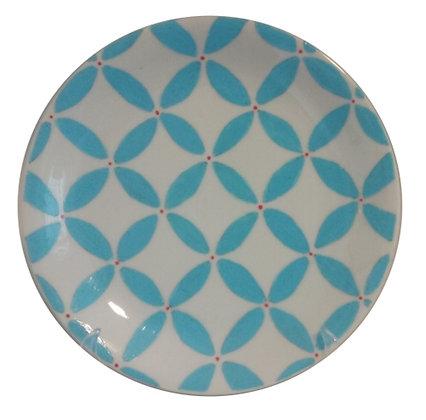 Prato Decorativo Blue Retrô PQ