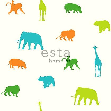 Giggle Animals Blue, Green & Orange