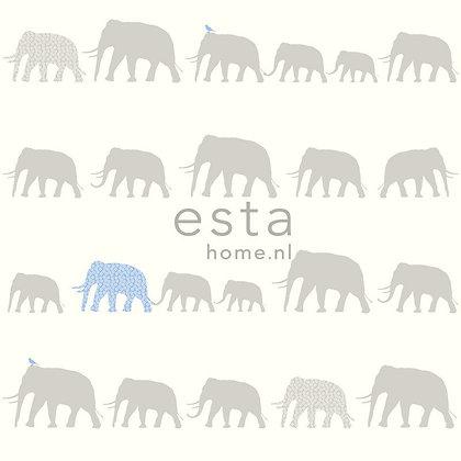 Giggle Animals Elephant Blue, Grey & White