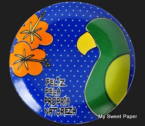 Prato Decorativo Feliz PQ