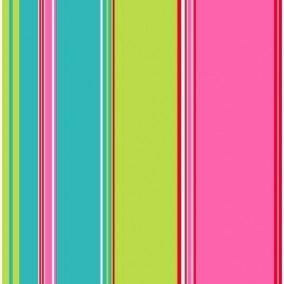 Belle Rose Stripes Blue, Green & Pink