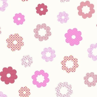 Belle Rose Patchwork Flowers Pink