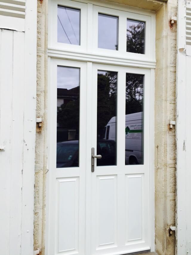 Porte fenêtre tierce avec imposte