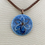 Thumbnail: A104A  - Pysanka Pendant  - Blue / copper design