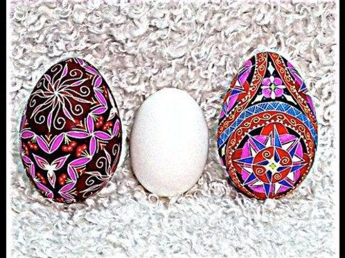 C3 - Notecard -  Pysanka card (3 eggs)