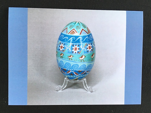 C8 - Notecard - Beach birds #1 - Pysanka blank card