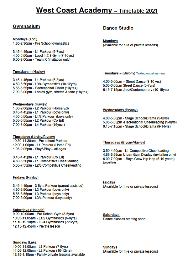 Timetable pic