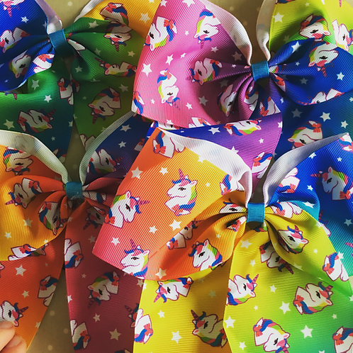 Rainbow Unicorn Bows