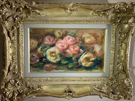 梅原龍三郎旧蔵のルノワールの薔薇