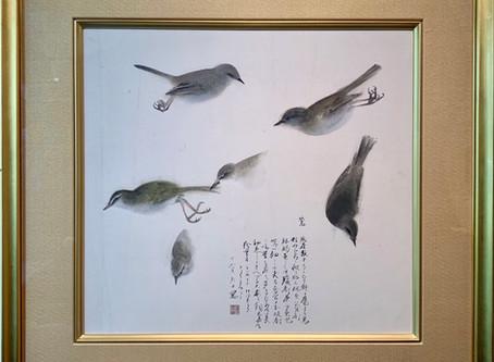 速水御舟「鶯」素描