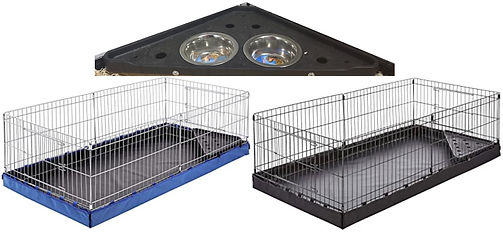 food tray with habitats blue and black.j