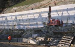 muro anclado en talud