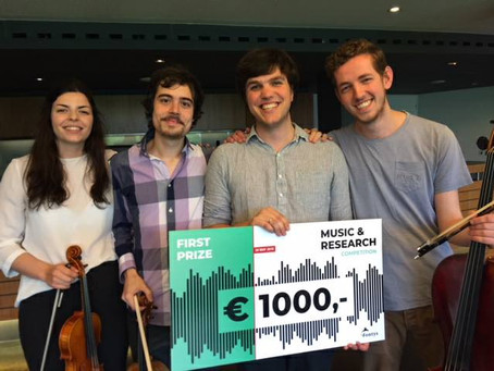 Nikolaï Clavier wins the first prize in the Music and Research competition