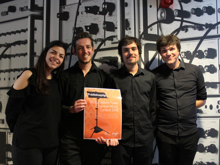 The Arthema Kwartet wins the audience prize in the Willem Twee chamber music contestin Den Bosch