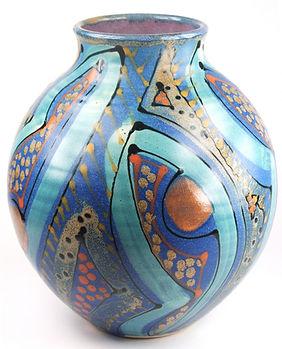 Round jar in Midnight blue range