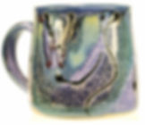 Standard mug hand thrown in Devon by Lea Phillips in cosmic design
