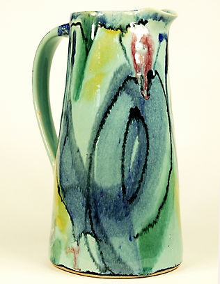 Large jug in Aqua range, hand thrown by Devon potter Lea Phillips