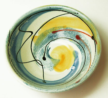 Stoneware bowl breakfast bowl hand made by Lea Phillipss near Totne