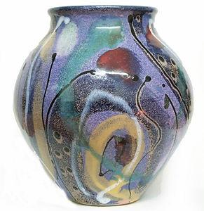 Large round jar in Cosmic design