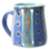 Large mug hand thrown in Devon by Lea Phillips, midnight blue range, tea mug, hand made cup
