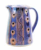 Stoneware medium jug  in cosmic design, hand made in Devon by Lea Phillips