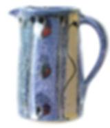 Small jug by Devon potter Lea Phillips cosmic design
