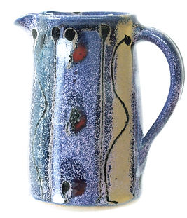 Small jug by Devon potter Lea Phillips cosmic design