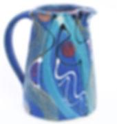 Medium jug in midnight blue range, hand thrown in Devon by Lea Phillips