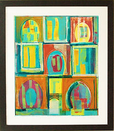 framed mono print by Lea Phillips in Totnes Devon print for sale from artist studio