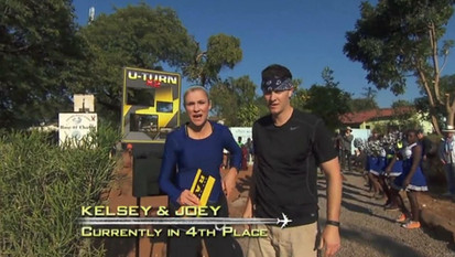 Kelsey and Joey Amazing Race at Rose of Charity