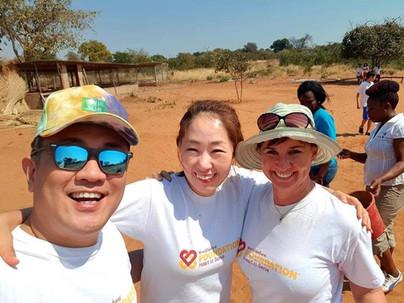 World Ventures Volunteers at Rose of Charity