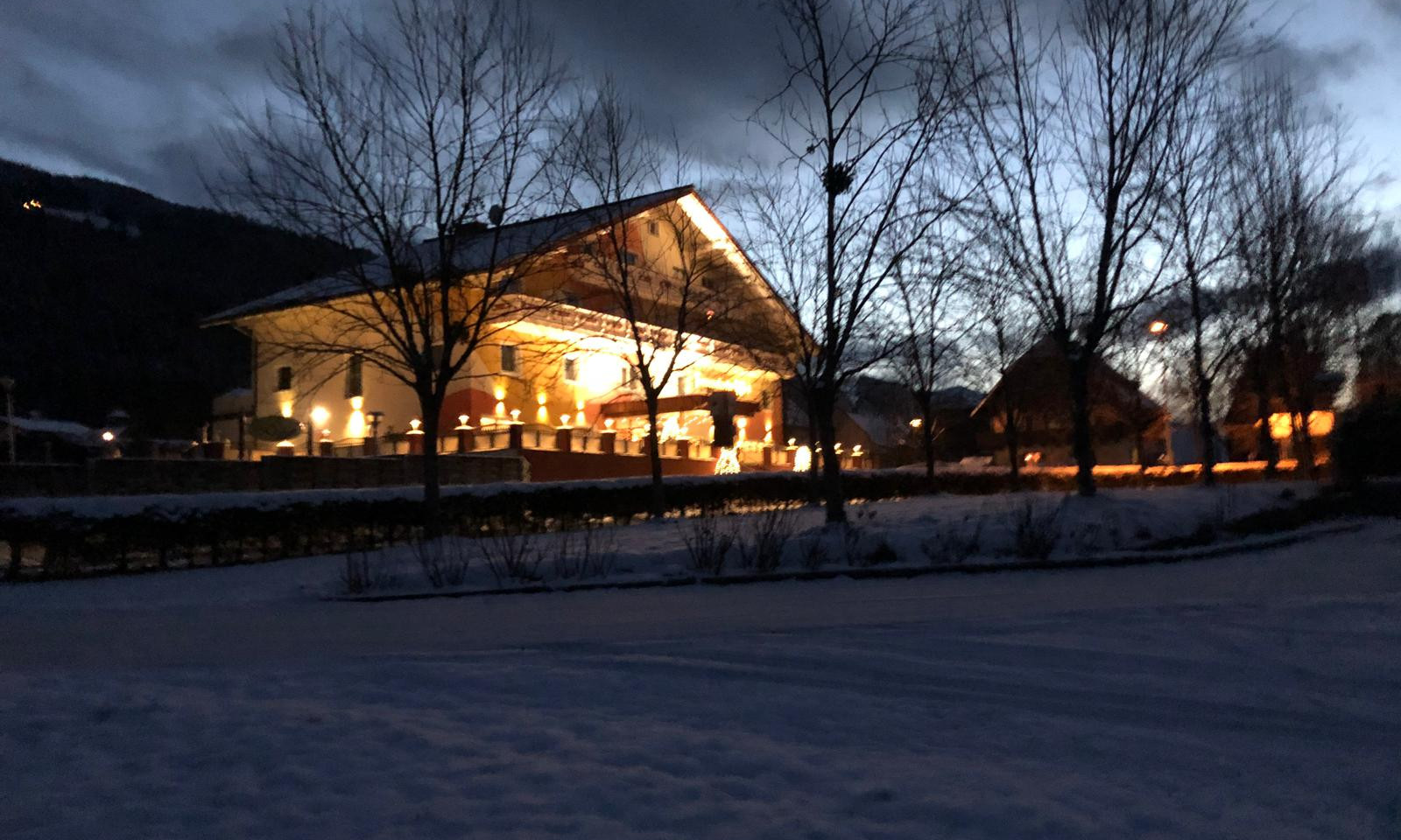 Hotel in de winter