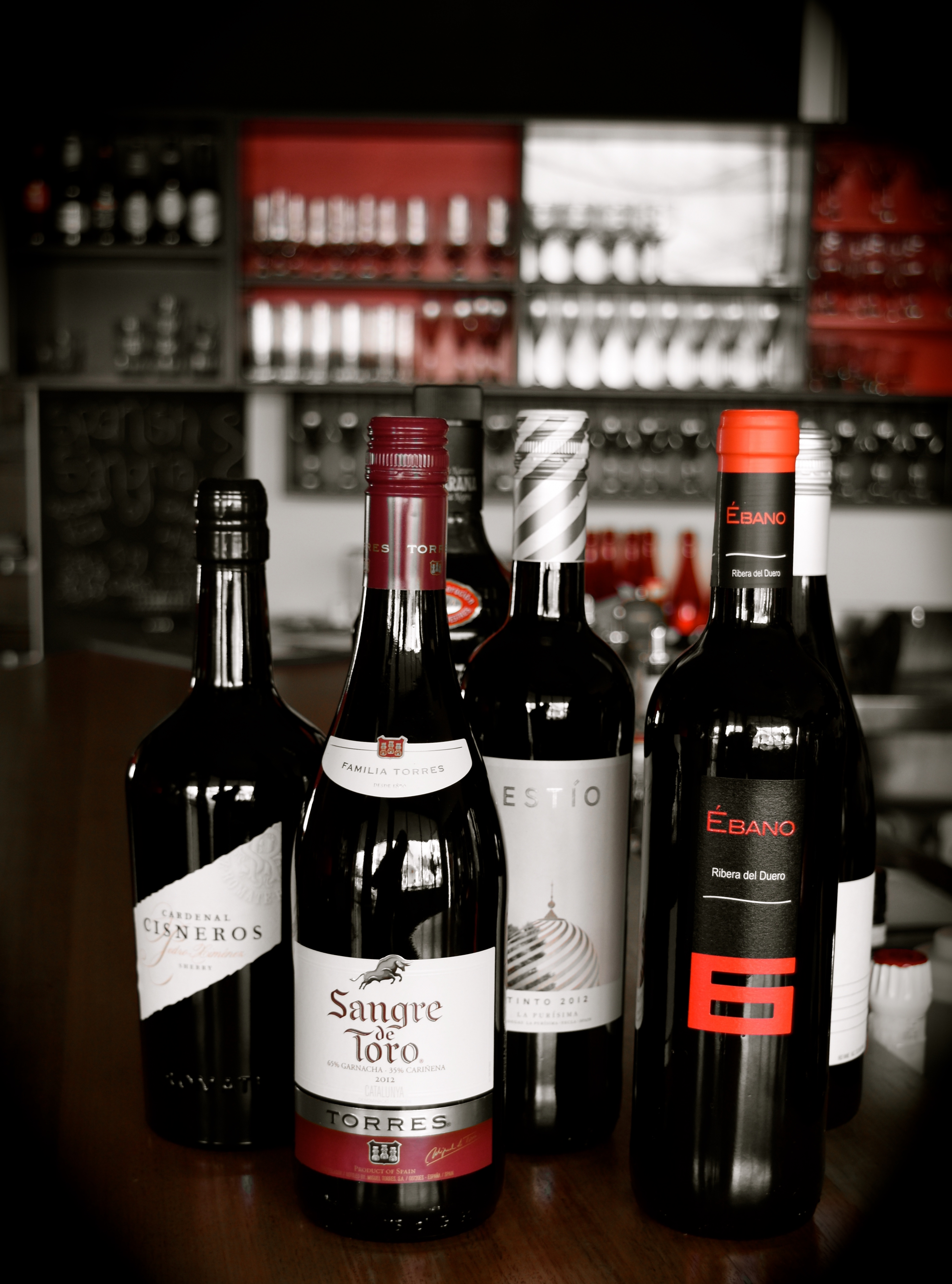 Our selection of red Spanish wines