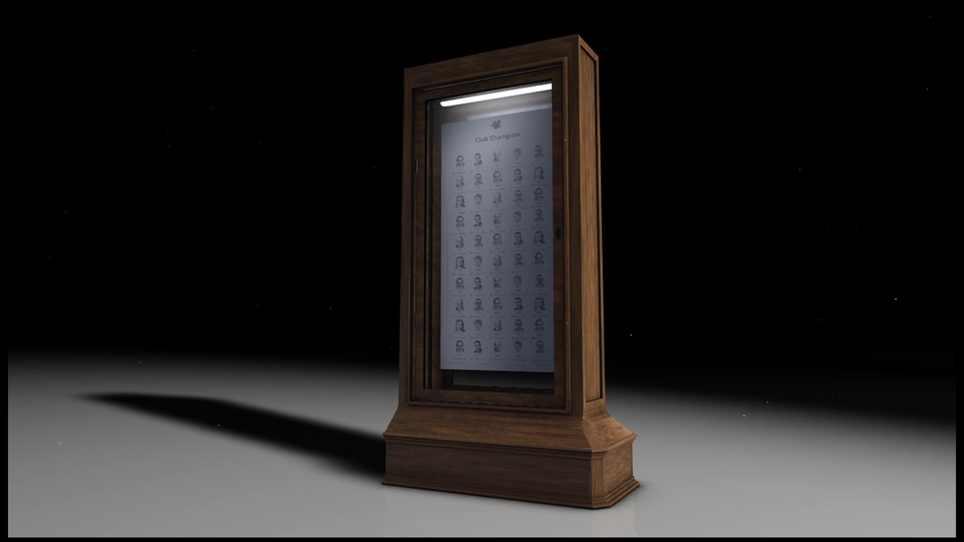 National Golf Club - Trophy Display Panel