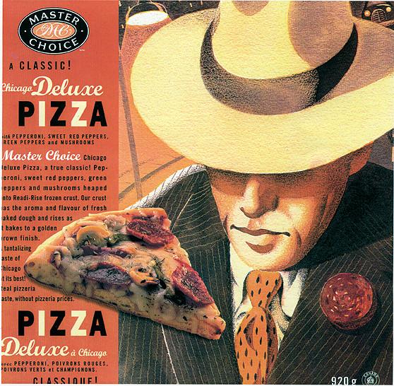 Master Choice - Pizza Box Art